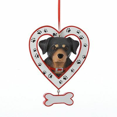 Rottweiler Heart Ornament