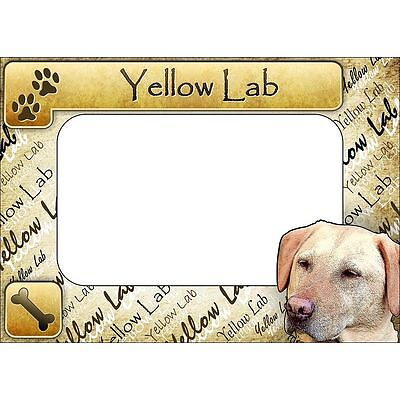 Yellow Lab Matte Photo Frame