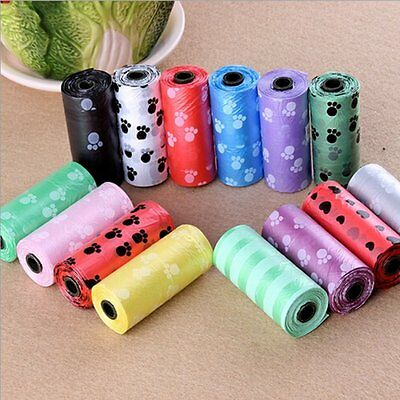 10Roll/150PC Printed Pet Dog Poop Bags Biodegradable Waste Toilet Bag Dispenser