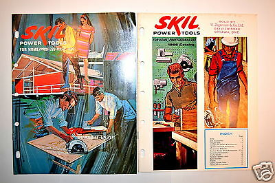 2 PC SKIL POWER TOOLS FOR HOME CATALOGS F-3083 & 1966 #RR301 drills saws router