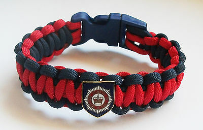 Household Division Paracord Wristband With Badges