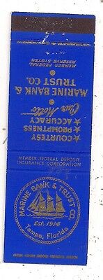 Marine Bank & Trust Co. Tampa FL Hillsborough County Matchcover 052416