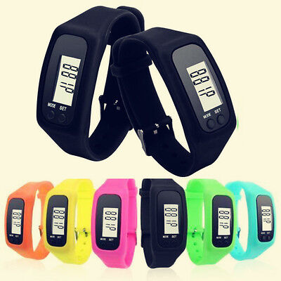 LCD Pedometer Calorie Counter Walking Digital Run Step Distance Bracelet Watch