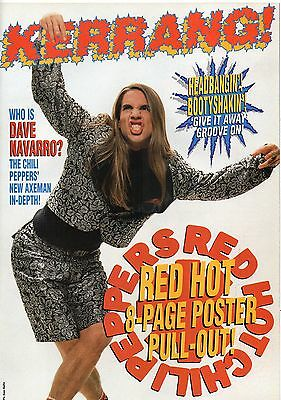 Red Hot Chili Peppers 8 pages magazine poster pull-out from England in 1994