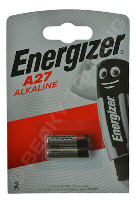 Two(2) x Genuine ENERGIZER A27 27A L828 Alkaline Battery 12v - Fast Shipment