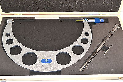 """NEW MOORE & WRIGHT MW210-071 Micrometer 10-11"""" 0.0001"""" Carbide + Standard EB3A4"""