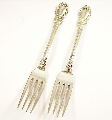 2 Vintage Sterling Silver Forks, American Victorian, Lunt Silversmiths