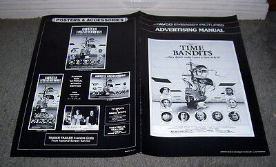 TIME BANDITS original pressbook JOHN CLEESE/SEAN CONNERY/MICHAEL PALIN/IAN HOLM