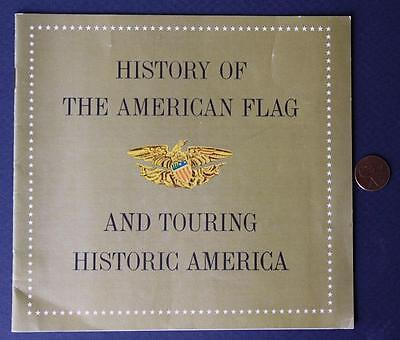 1959 TEXACO GAS & Oil Station History of the American Flag & tourguide  booklet!