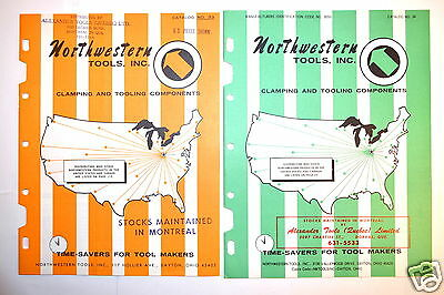 2 NORTHWESTERN TOOL CLAMPING & TOOLING CATALOGS No. 33 & No. 34 #RR538 T-slot