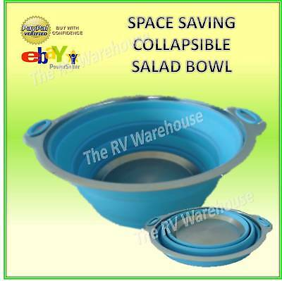 Silicone Space Saving Collapsible Salad Bowl New Caravan Boat RV Camping  Parts