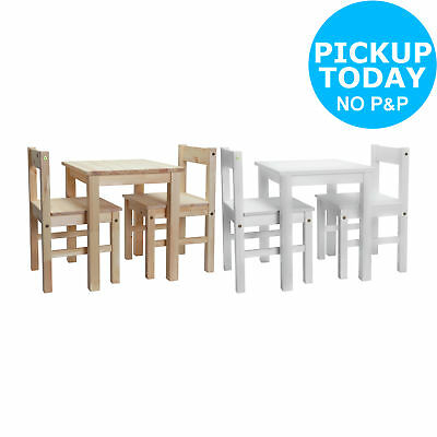 HOME Kids Scandinavia Solid Wood Table and 2 Chairs - Brown / White - From Argos