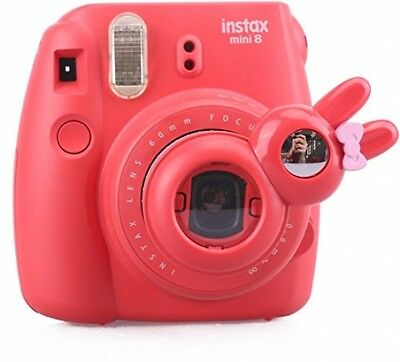 Fujifilm Instax Mini 7s Mini 8 Selfie Rabbit Lens Close Up Lens With Mirror RED
