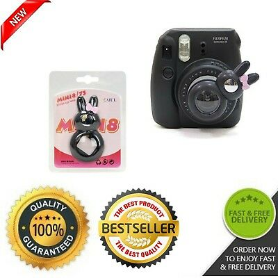 Fujifilm Instax Mini 7s Mini 8 Selfie Rabbit Lens Close Up Lens w Mirror Black