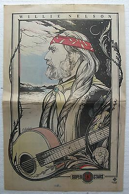 """1982 8/29 """"New York Daily News Sunday Comic Section"""", Willie Nelson Poster"""