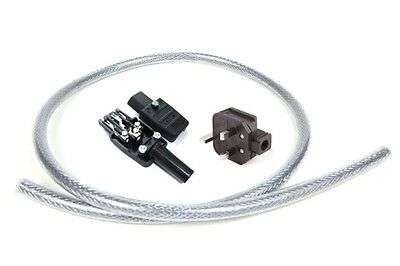 Mcru Diy Mains Lead Set | Silver Plated Plug | Lapp Cable | Silver Plated Iec