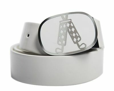 Royal And Awesome Leather Belt (White) Adjustable Sizing Trending Golf Belt