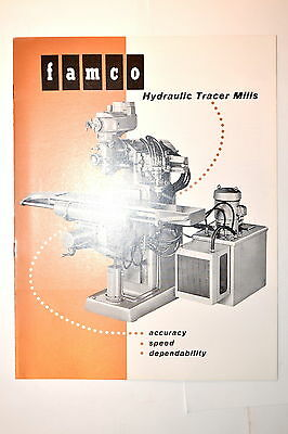 FAMCO  HYDRAULIC TRACER MILLS Milling Machine BROCHURE 1961 #RR472