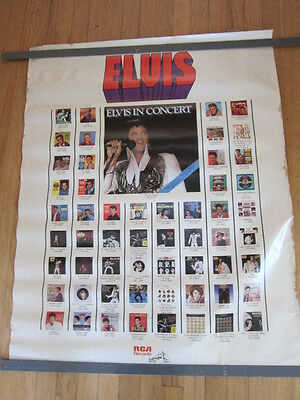 ELVIS PRESLEY Elvis in Concert and RCA catalog promo poster