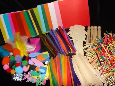 KIDS CRAFT PACK (Over 500 pcs) CLEARANCE ITEM
