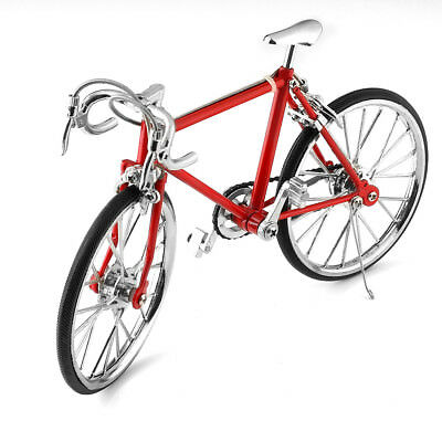 Red Diecast Model Collections 1:10 Racing Bike Bicycle Replica Toy