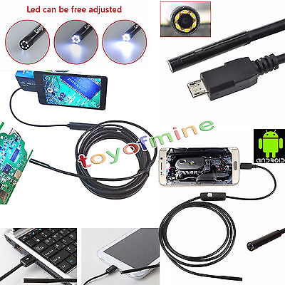 6LED Android Micro USB Endoscope Waterproof Borescope Inspection Video Camera