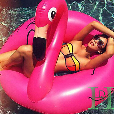 Pink Flamingo Inflatable Giant  Shaped Pool Float Raft Ring Swimming Water Fun