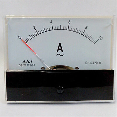0-10A Analogue AC Ammeter Current Panel Meter 44L1