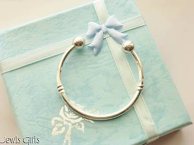 baby boys christening bangle Torque bangle bracelet in Gift box or Gift pouch