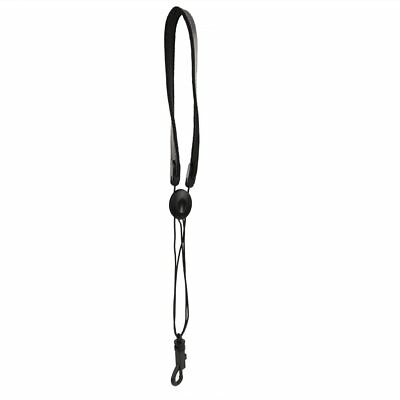 Black Adjustable PU Leather Sax Saxophone Straps Sling Neck Strap with Snap Hook