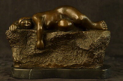 Bronze Sculpture **DEAL** Abstract Modern Art Sleeping Female By Bote Statue