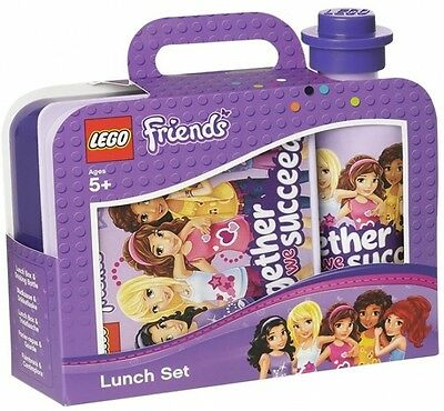 Lego Friends 'lavender' Lunch Box And Bottle Set (Free P+P)