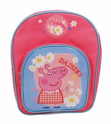 Peppa Pig 'home Sweet Home' Arch Pocket School Bag Rucksack Backpack (Free P+P)