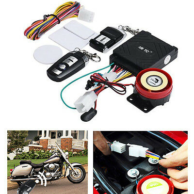 Motorcycle Bike Scooter Anti-theft Alarm Security System Engine Remote Control