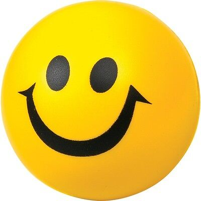 Smiley Happy Face Foam Stress Ball - Colourful Kids Foam Stress Relieving Toy