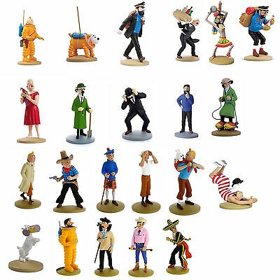 TINTIN MOULINSART HERGE BIG PVC, RESIN FIGURE in Box Cilindrico