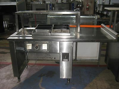 Randell Drop in Hot Food Well with Stainless Steel Prep Space