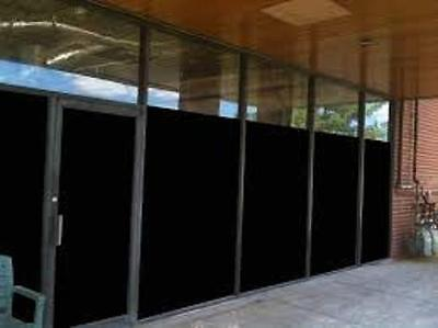 """40"""" X 50 Ft Roll Blackout Film Privacy For Office,bath,glass Door,storefronts"""