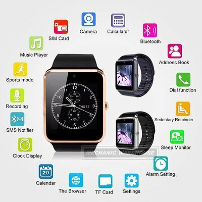 GT08 Smart Wrist Watch Bluetooth GSM Phone Mate For iOS iPhone Android Samsung