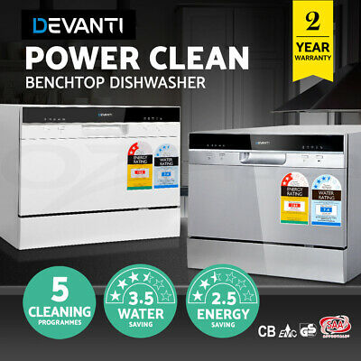 Electric Benchtop Dishwasher Freestanding COUNTERTOP Machine 6 Place EFFICIENT