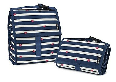 PackIt Travel Personal Cooler Foldable Freezable Work Lunch Bag Be Mine Stripes