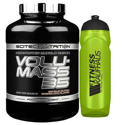 (15,58 EUR/kg) Scitec Nutrition Volumass 35 - 2950g Weight Gainer Trinkflasche