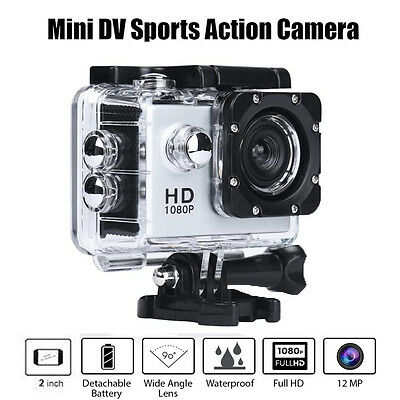 Pro Waterproof Action Helmet Sports Camera DV Cam HD 1080P SJ4000 Camcorder UK