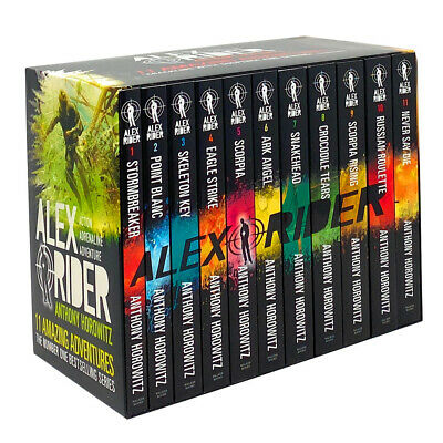 Anthony Horowitz Alex Rider 10 Books Set Pack Collection  Snakehead, Scorpia ...