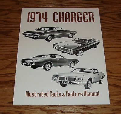 1974 Dodge Charger Illustrated Facts Feature Manual 74
