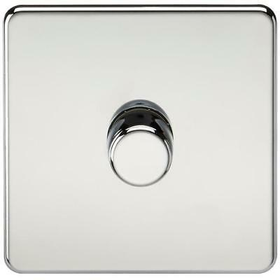 1G 2 Way Dimmer Switch Screwless Flat Plate Polished Chrome