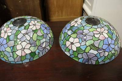 One of Two Matching Tiffany Leadlight Ceiling or Lamp Shades