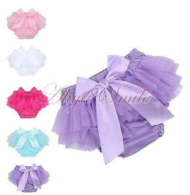 Baby Infant Girls Newborn Cotton Chiffon Ruffle Bloomer Tutu Shorts Pants Covers