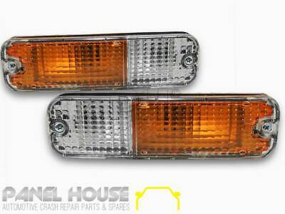 NEW Nissan Universal Clear Bar Light PAIR Indicator Park Tapered Lamp LHS RHS