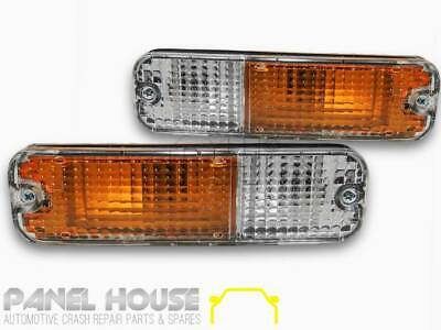 UNIVERSAL Nissan PAIR Front LHS+RHS Clear Lens Bar Lamp Park Blinker Lights